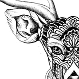 original deer mandala half sleeve tattoo design references created by tattoo artist