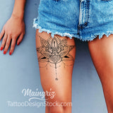 amazing lotus mandala tattoo design digital download