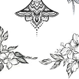 Flowers underboob temporary tattoos