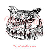 Owl mandala - tattoo design download #4