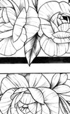 Sexy peony linework forearm  - tattoo design download