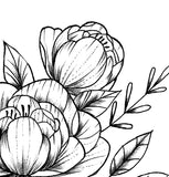 Sexy peony linework forearm tattoo design high resolution download