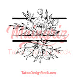 Sexy peony linework forearm high resolution download