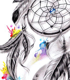 Realistic dreamcatcher watercolor tattoo high resolution download