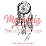 Realistic sexy dreamcatcher tattoo design high resolution download