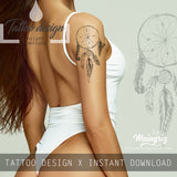 Sexy dreamcatcher half sleeve tattoo design high resolution download