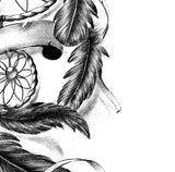 Sexy realistic dreamcatcher tattoo design high resolution download
