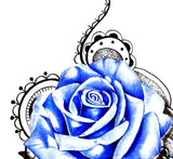 Sexy rose  with precious stone tattoo design high resolution download