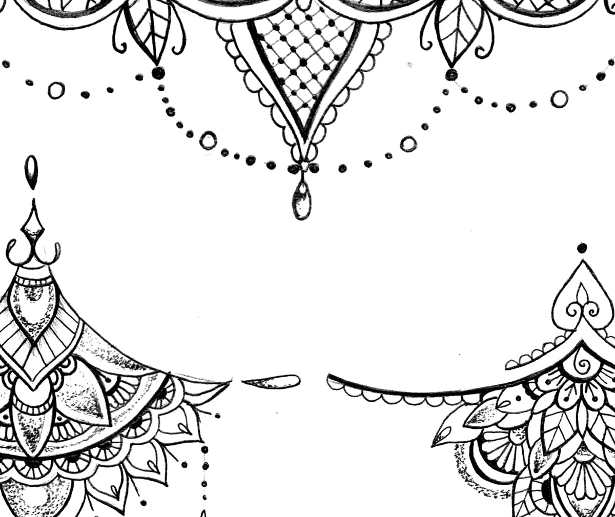 Mandala And Lace Under Boob Tattoo Designs  Tattoo Design -6072