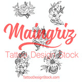 Flowers & Lace temporary tattoos