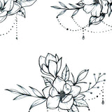 Flowers jewelry temporary tattoos