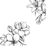 Flowers mixed temporary tattoos