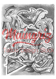 eyes chicano tattoo design digital download by tattoo artist