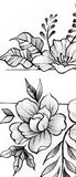 Flowers forearm temporary tattoos