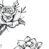 Flowers oriental hand temporary tattoos