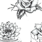 Flowers oriental hand Tattoo design