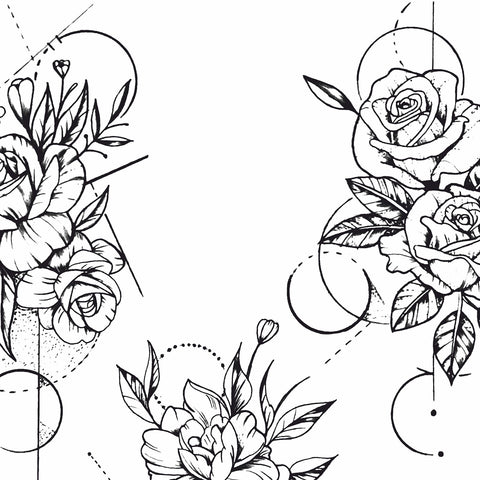 Geometric Rose Tattoo Design