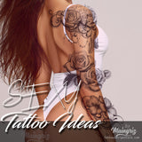 selection fo hundreds amazing sexy tattoos for girls in instant download