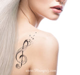treble clef tattoo design digital donwload