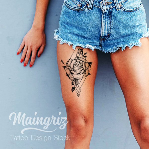 Losange rose download tattoo design – Tattoo Design Stock