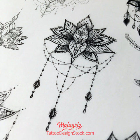 amazing lotus mandala tattoo design by tattoodesignstock.com