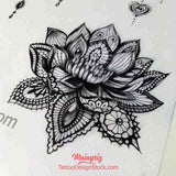 realistic lotus mandala tattoo design high resolution download