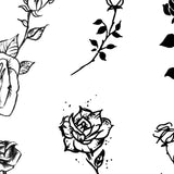 amazing minimalist roses under boob side boob tattoo design