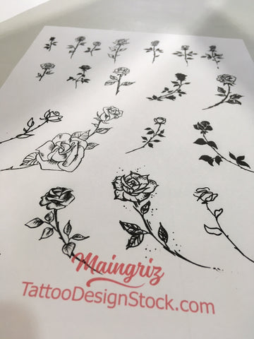 amazing minimalists roses under boob side boob tattoo design