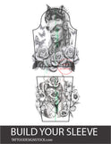 amazing mockup for create you sleeve tattoo design created by tattoo artist