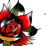 4 x Neo tradional roses temporary tattoos