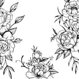 sexy rose line work tattoo design