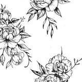 Sexy Roses line work tattoo design