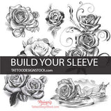create your own sleeve tattoo designs with build your sleeve pack