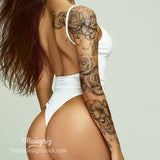 amazing sexy tattoo sleeve idea for woman
