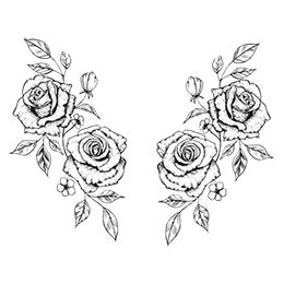 sexy roses sideboob tattoo design digital download by tattoo artist