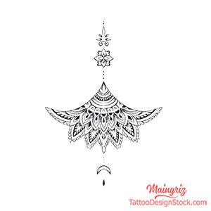mandala oriental tattoo design digital download by tattoo artist