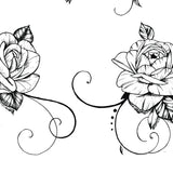 5 Roses side boobs tattoo design high resolution download