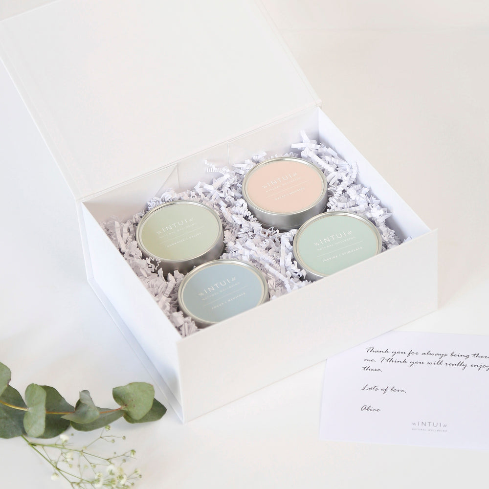 Intui Yoga Gift Box, Beautiful Packaging with Natural Candles to Support your Practice