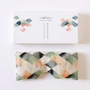Intui Bliss Eye Pillow, Geo Print, Made with Organic Linen and Cotton