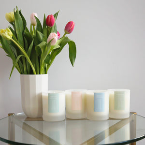 Intui Glass Collection of Plant-based Candles with Essential Oils