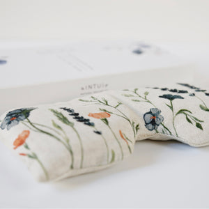 Bliss Eye Pillow with Lavender and Flowers, All-Natural Support for Yoga and Aromatherapy