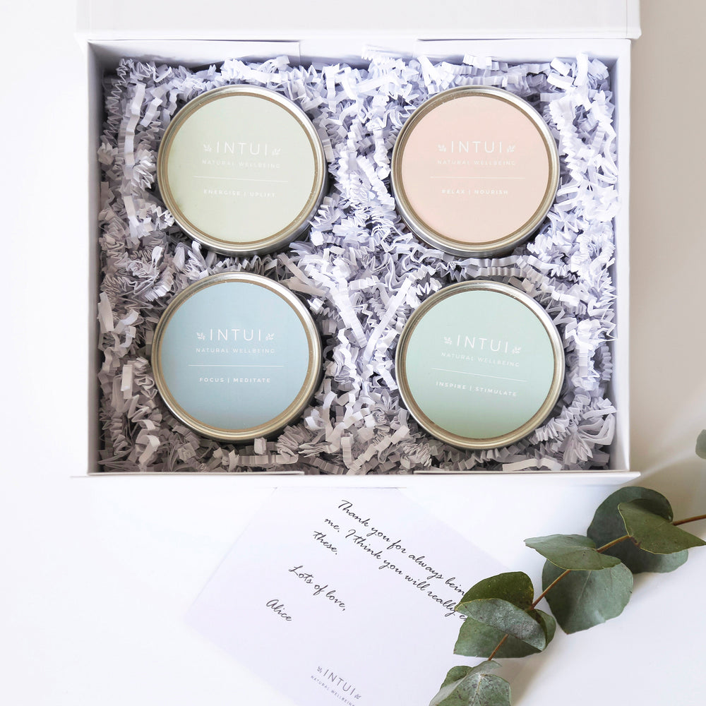 Intui Gift Box, Natural Yoga Candles with Essential Oils to Complement Circadian Rhythm