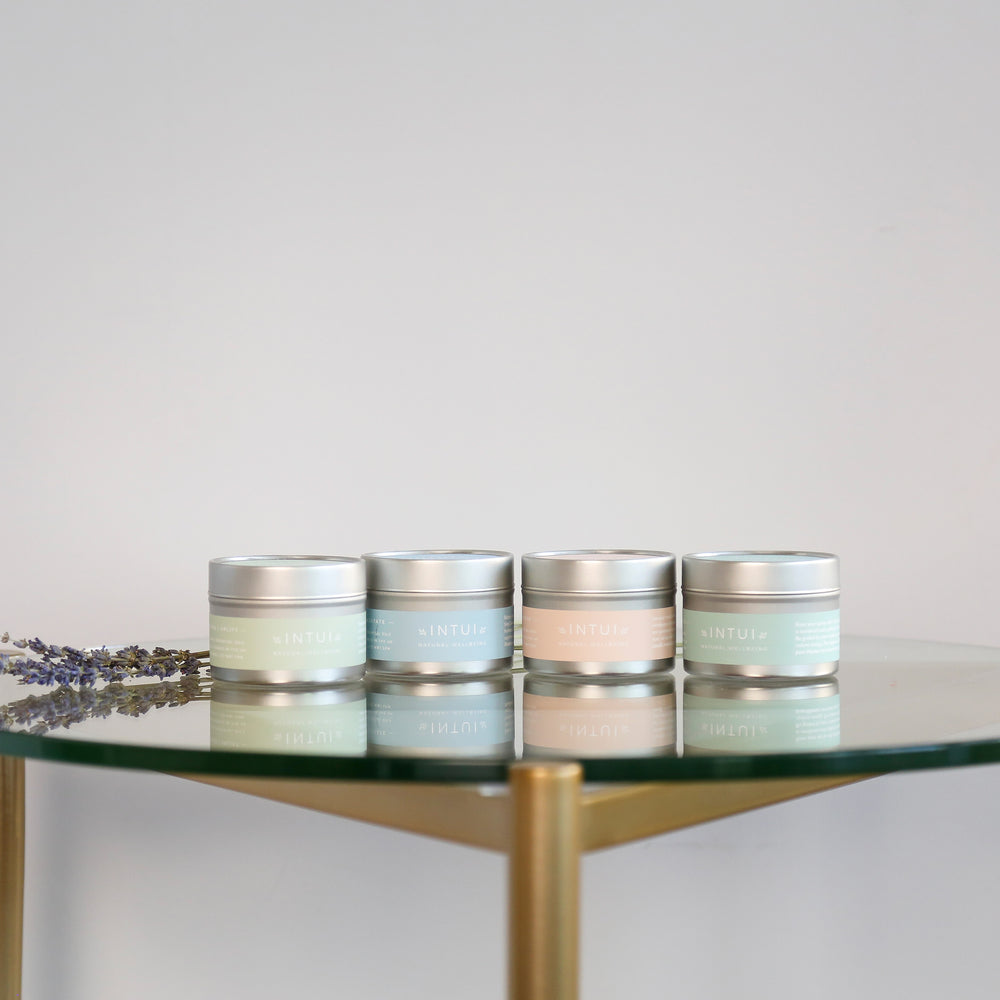 Intui Plant-Based Tin Candles for Self-Care, Yoga and Emotional Wellbeing