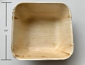 "Eco friendly 5.5"" square disposable bowls (Pack of 25)"