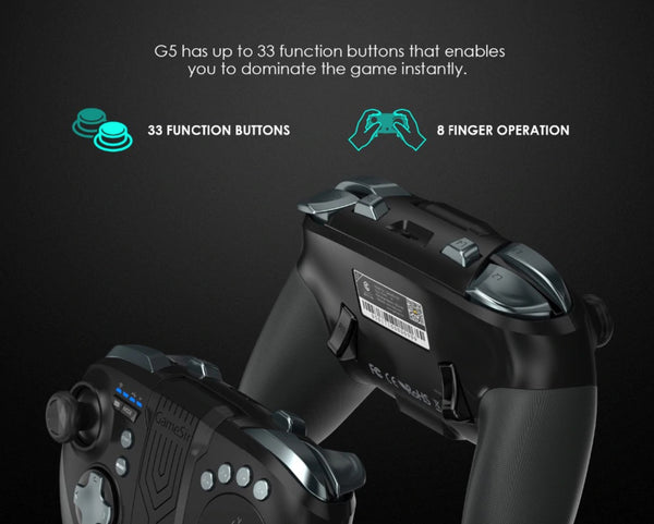 Gamesir G5 - Futuristic game controller with 33 buttons