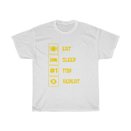 Eat Sleep Top Repeat - T-shirt Fortnite