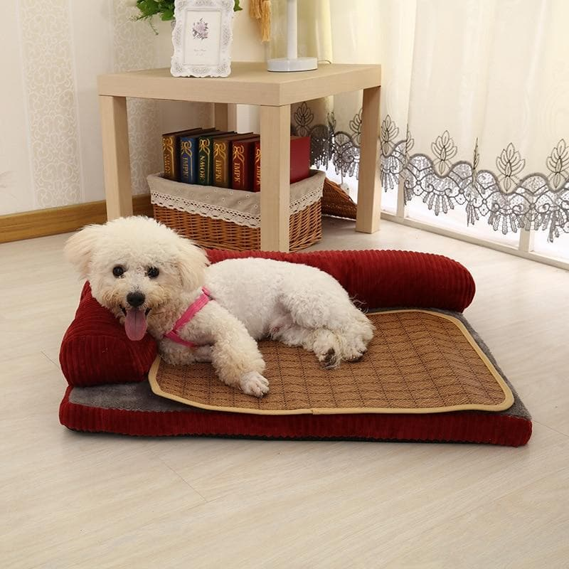 Large Dog Bed Super Soft L Shaped Chaise Lounge Sofa Cushion Mat Fleece Warm Pet Dog Beds For Small Dogs Puppy Kennel
