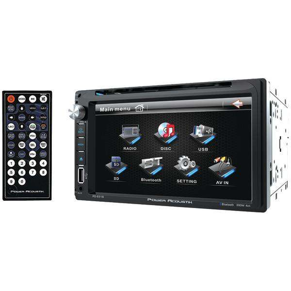 "POWER ACOUSTIK(R) PD-651B 6.5"" Double-DIN In-Dash LCD Touchscreen DVD Receiver (With Bluetooth)"