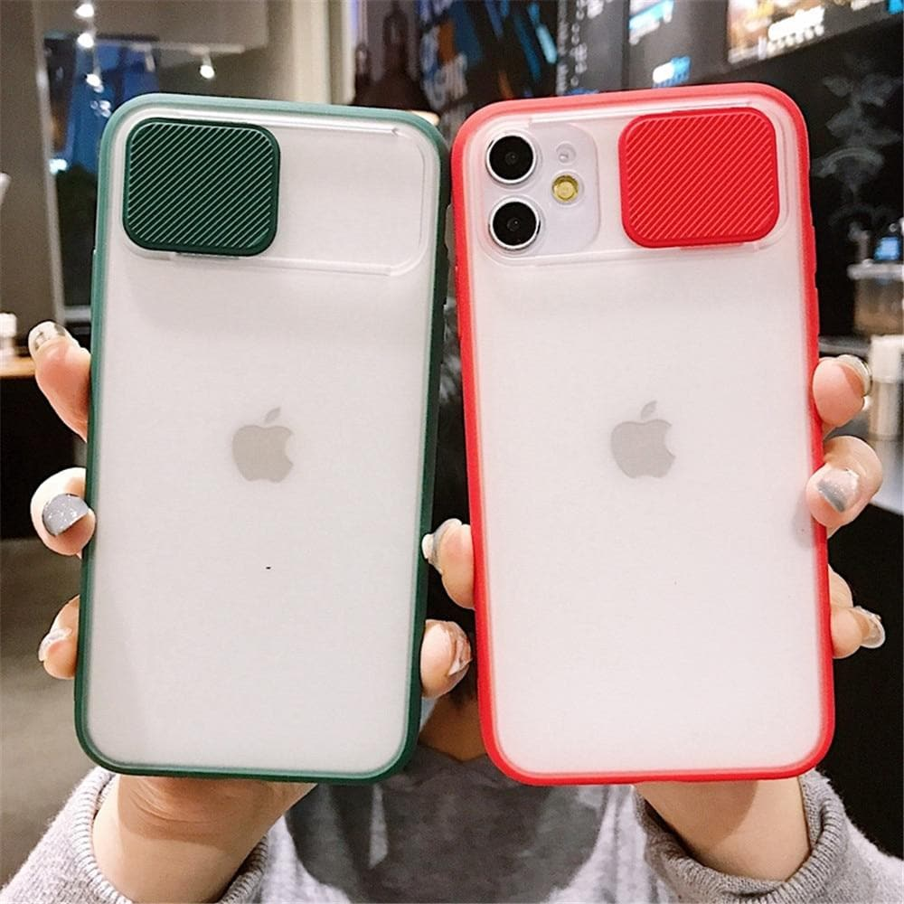 for iPhone 11 12 Pro Max Mini 6 6S 7 8 Plus X XS XR SE 2020 Cover Case Camera Protection Slide Protect Cover Lens Protection
