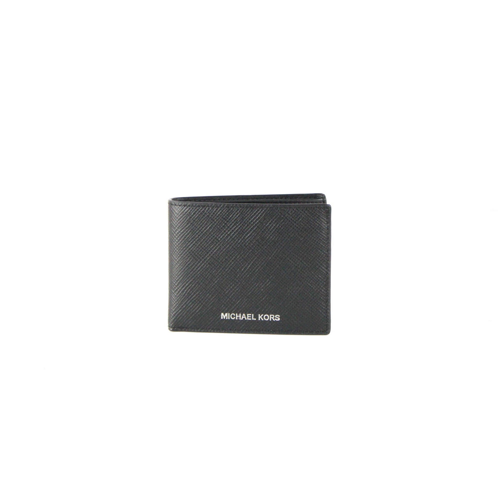 Harrison Crossgrain Leather Slim Billfold Wallet (Black)